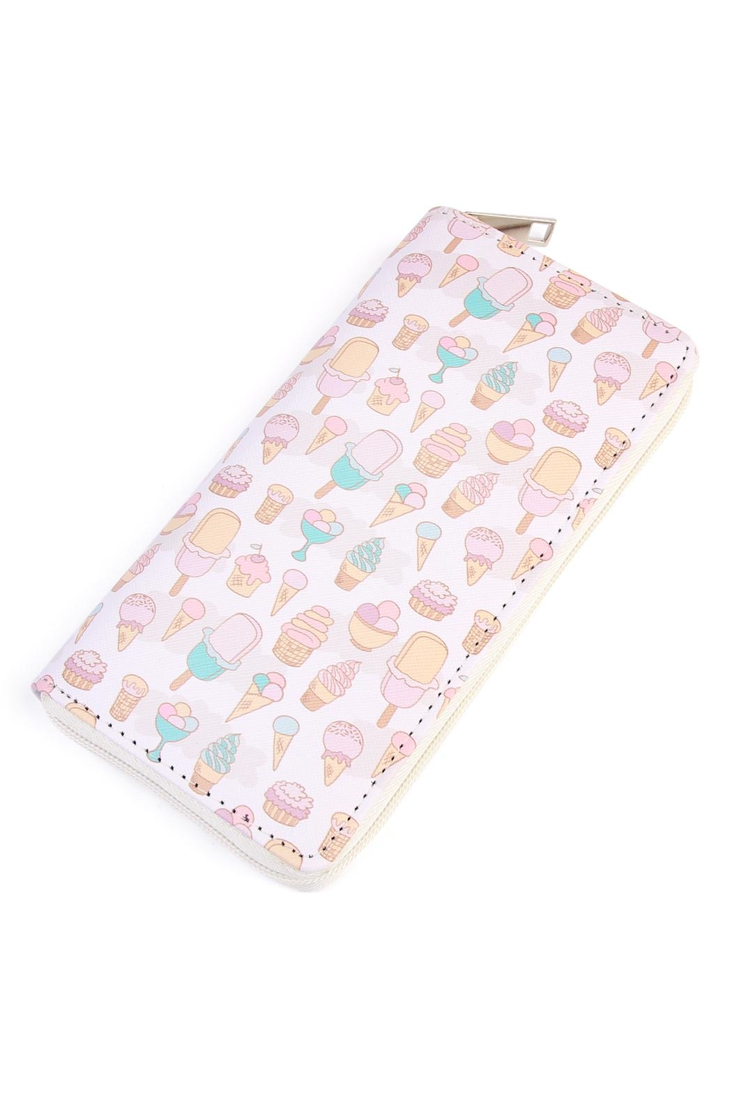 Riah Fashion Icecream Zipper Wallet - Main Image