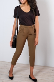 ICHI Belted High-Waisted Trousers - Product Mini Image