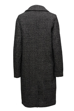 ICHI Black Check Coat - Alternate List Image