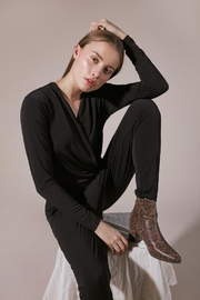 ICHI Black Ihlima Jumpsuit - Product Mini Image