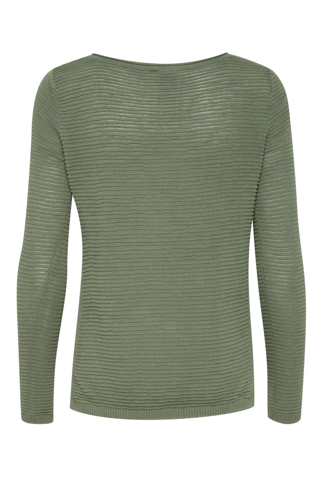 ICHI Green Knit Sweater - Front Full Image