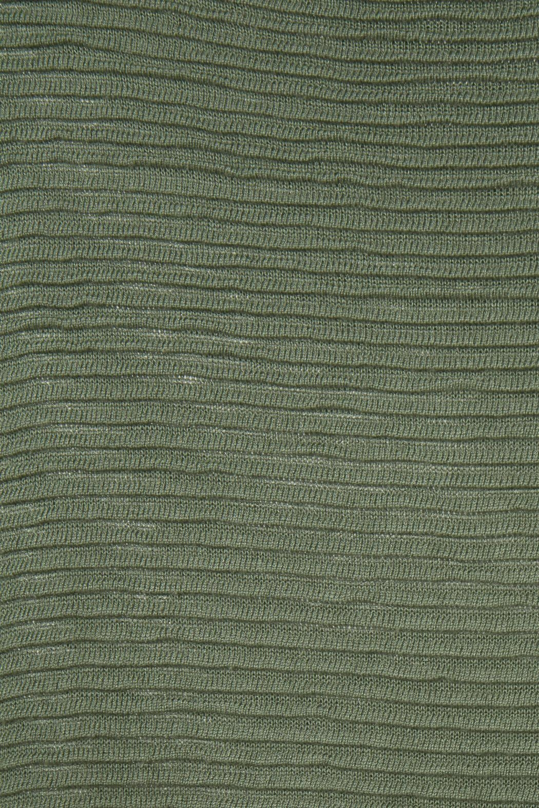 ICHI Green Knit Sweater - Side Cropped Image
