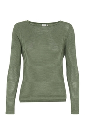 ICHI Green Knit Sweater - Product Mini Image