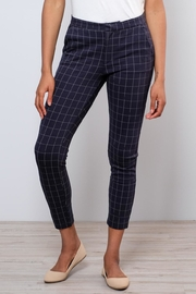 ICHI Grid Pattern Pants - Front full body