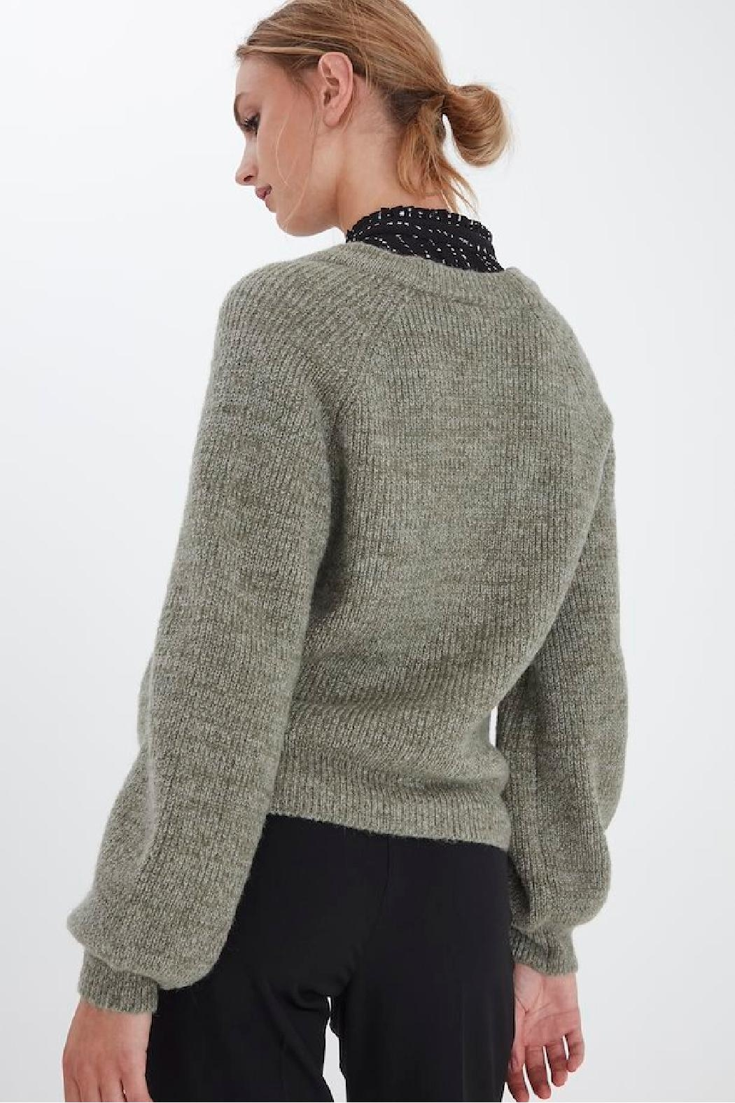 ICHI Lichen Knitted Cardigan - Front Full Image