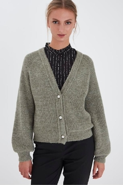ICHI Lichen Knitted Cardigan - Product List Image