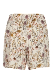 ICHI Pink Floral Shorts - Front full body