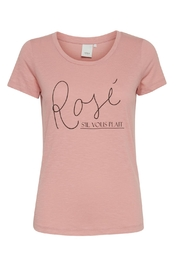 ICHI Pink Graphic T - Front cropped
