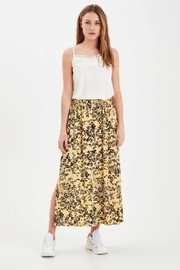 ICHI Printed Midi Skirt - Product Mini Image