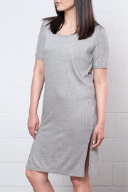 ICHI Ribbed Tee Dress - Product Mini Image
