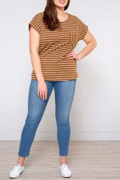 ICHI Striped Dolman Top - Alternate List Image