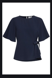 ICHI Tie Waist Blouse - Product Mini Image