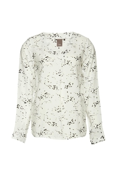 ICHI White Long Sleeve Blouse - Product List Image