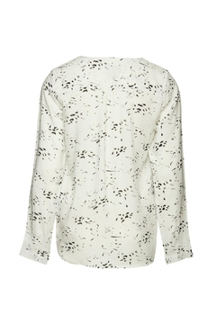 ICHI White Long Sleeve Blouse - Alternate List Image