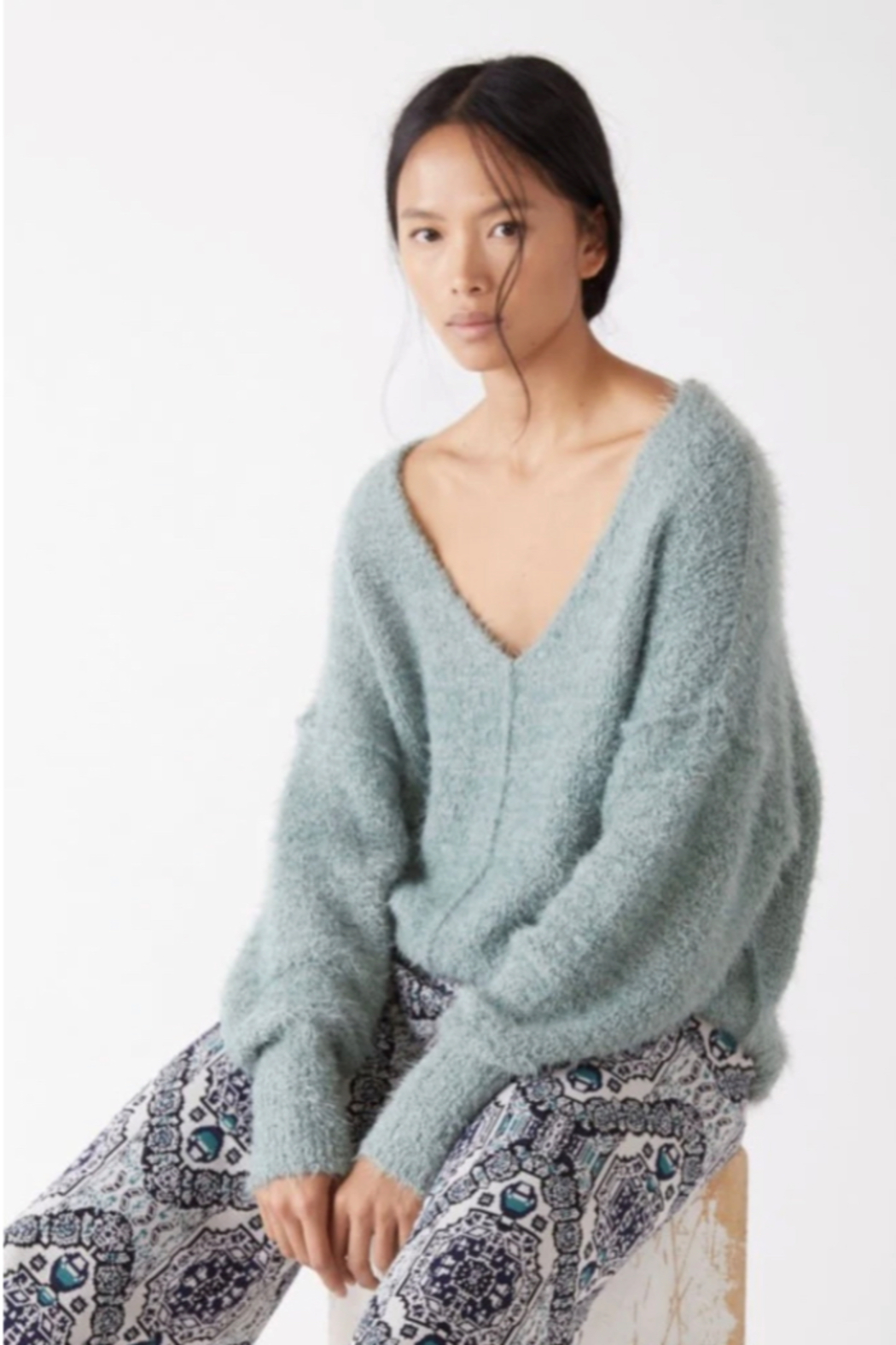 Free People  Icing V-Neck Pullover - Front Cropped Image