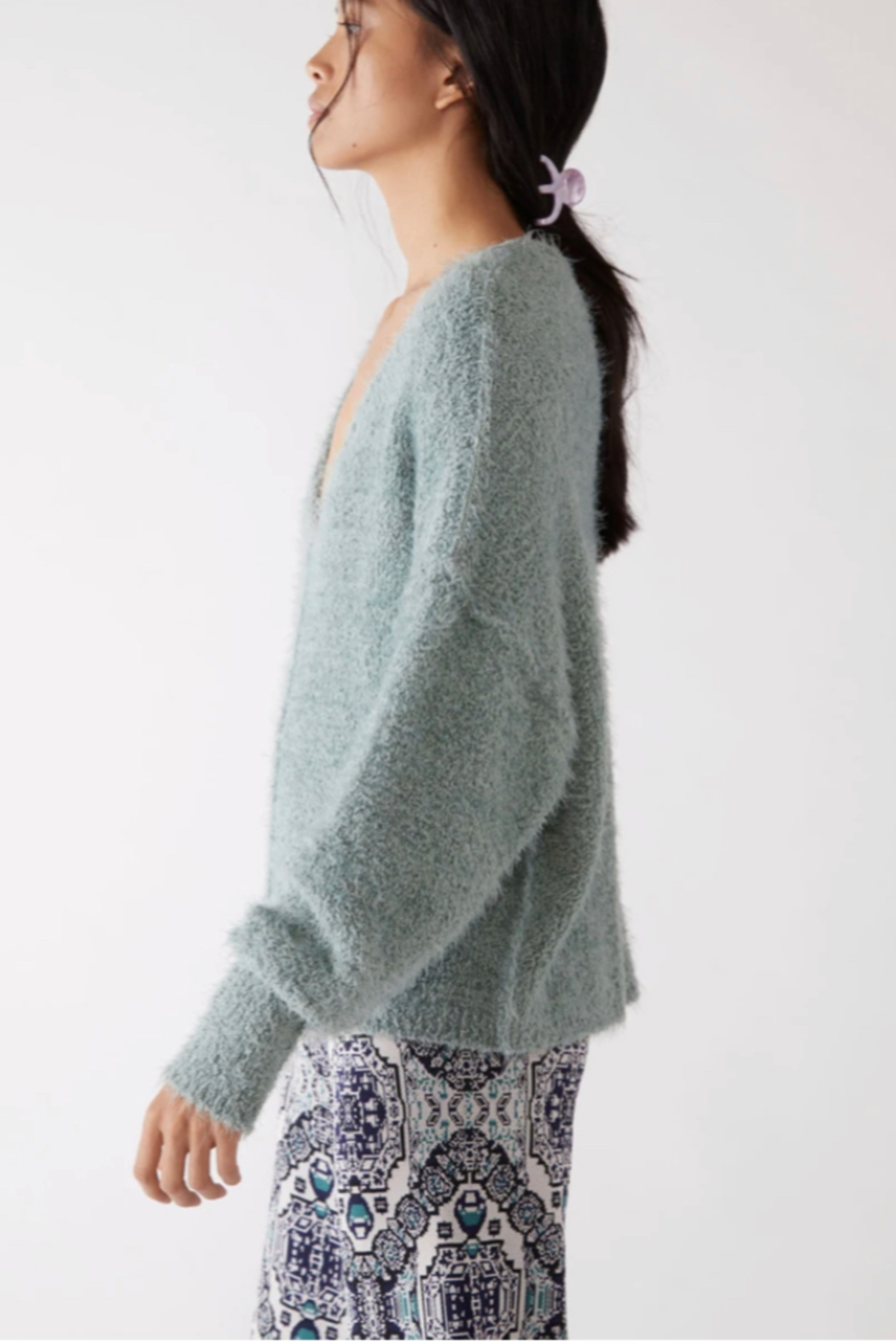 Free People  Icing V-Neck Pullover - Front Full Image