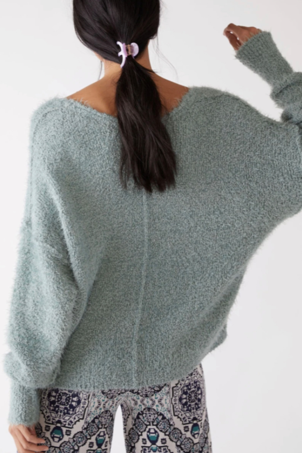 Free People  Icing V-Neck Pullover - Side Cropped Image