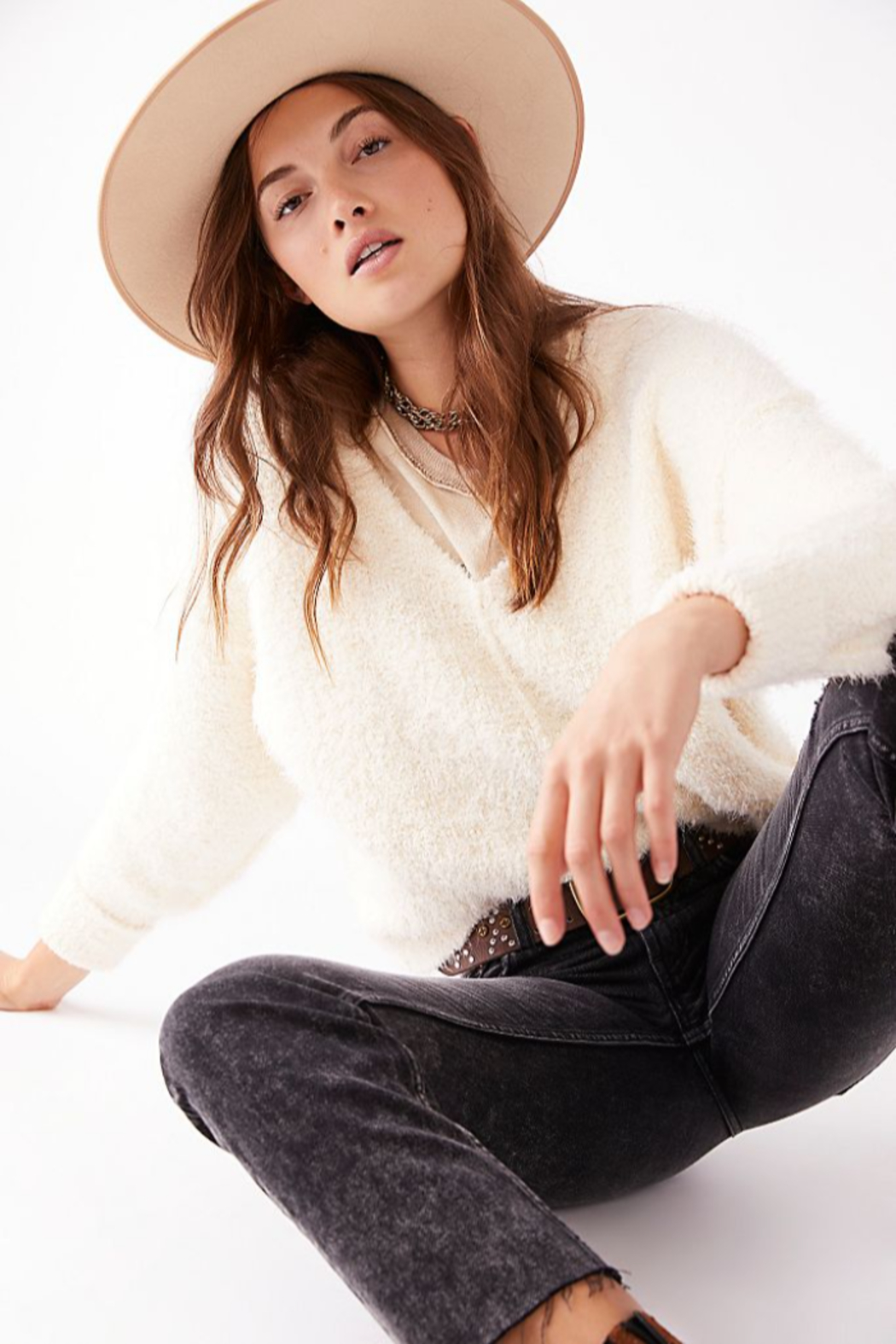 Free People  Icing V-Neck Pullover - Main Image
