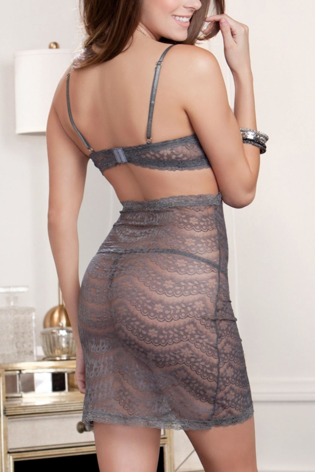 iCollection Cutaway Lace Chemise - Front Full Image