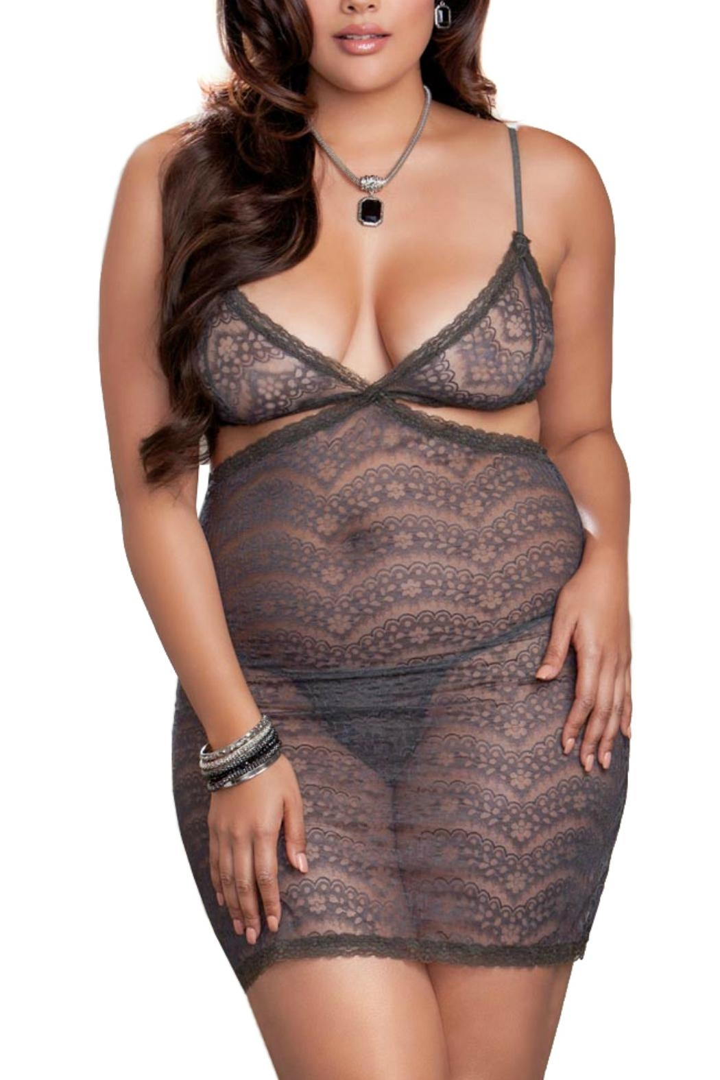 iCollection Cutaway Lace Chemise - Main Image