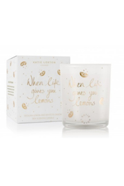 Katie Loxton Icon Candle- When Life Give You Lemons - Front cropped
