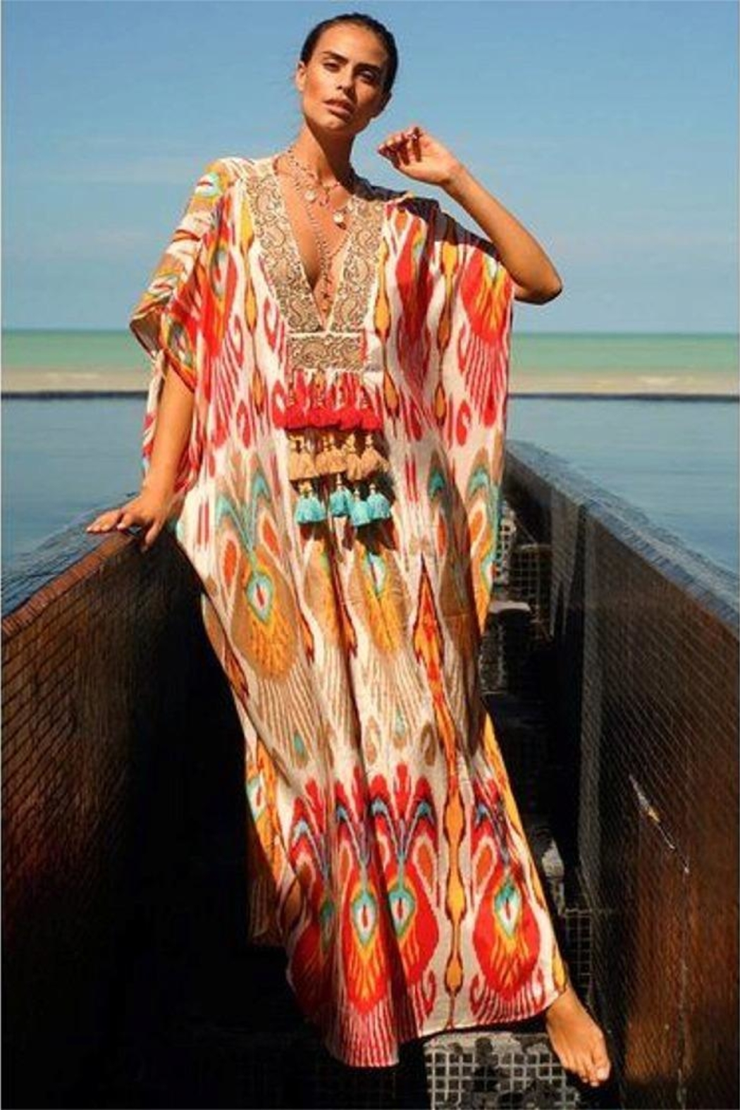 6e92fc7fc21 Miss June Iconic Kaftan from Miami by Neptunes — Shoptiques