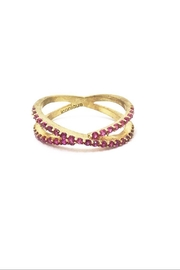 ICONIQUE Crossings Gold-Pink Ring - Product Mini Image