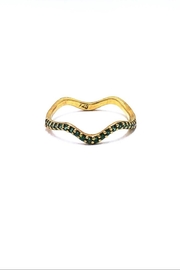 ICONIQUE Ring Wave Gold-Green - Product Mini Image