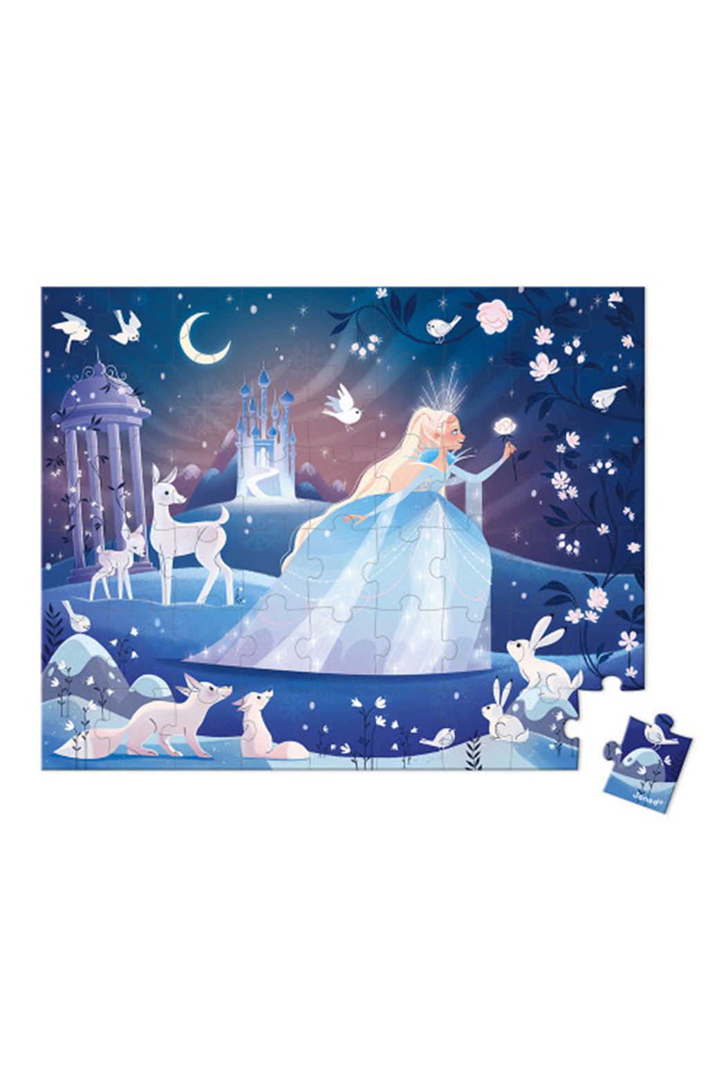 Janod  Icy Enchantment 54 Piece Puzzle - Front Full Image