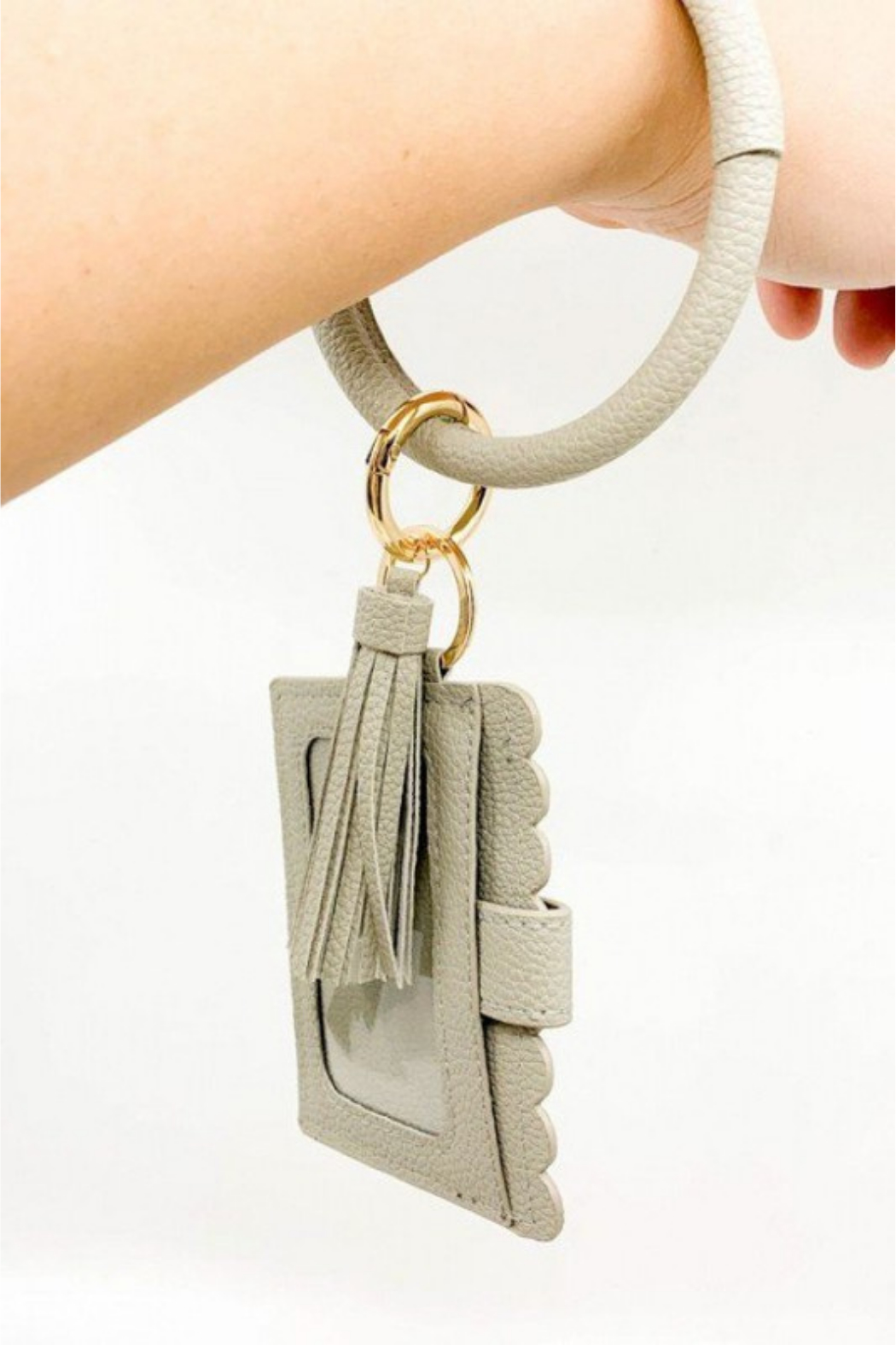 Southern Seoul ID Wallet Wristlet with Tassel - Side Cropped Image