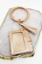 Southern Seoul ID Wallet Wristlet with Tassel - Front full body