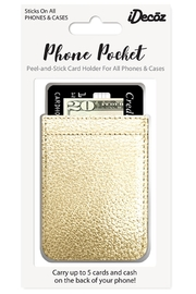 iDecoz Gold Phone Pocket - Front full body