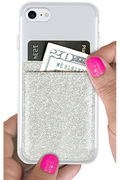 iDecoz Silver-Glitter Phone Pocket - Product List Image