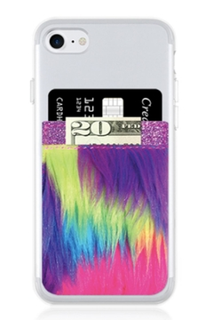 Shoptiques Product: Unicorn Faux-Fur Phone-Pocket