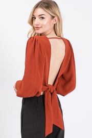 Idem Ditto  Back-Tie V-Neck Top - Front full body