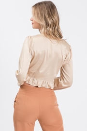 Idem Ditto  Button-Down Satin Blouse - Side cropped
