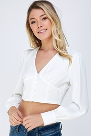 Idem Ditto  Button Up Crop-Top - Product Mini Image