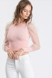 Idem Ditto  Cantaloupe Sweater Top - Product Mini Image