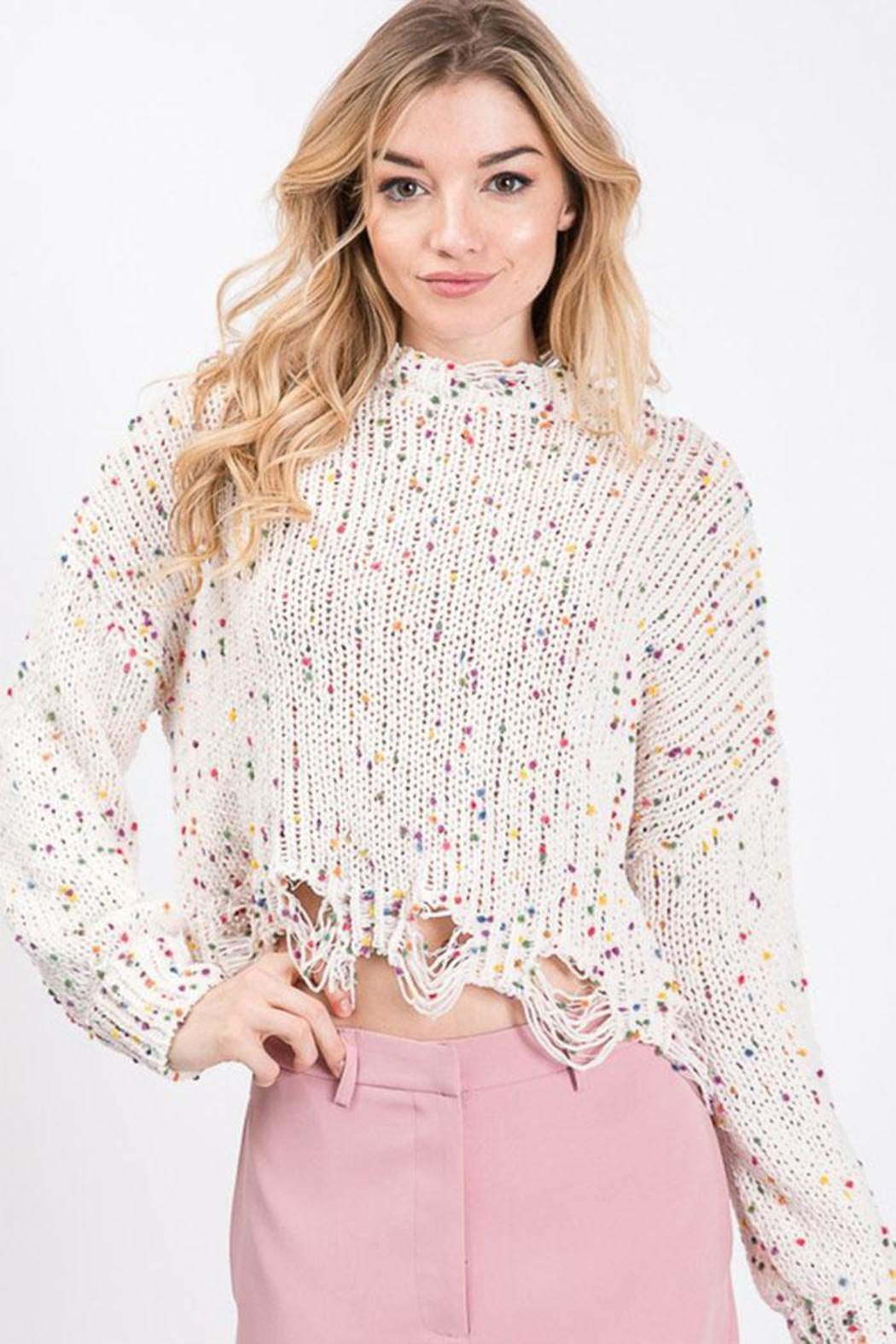 Idem Ditto  Colorful Dot Sweater - Main Image