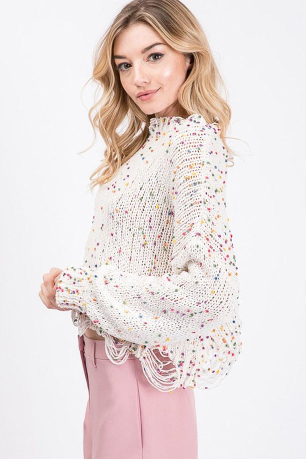 Idem Ditto  Colorful Dot Sweater - Front Full Image