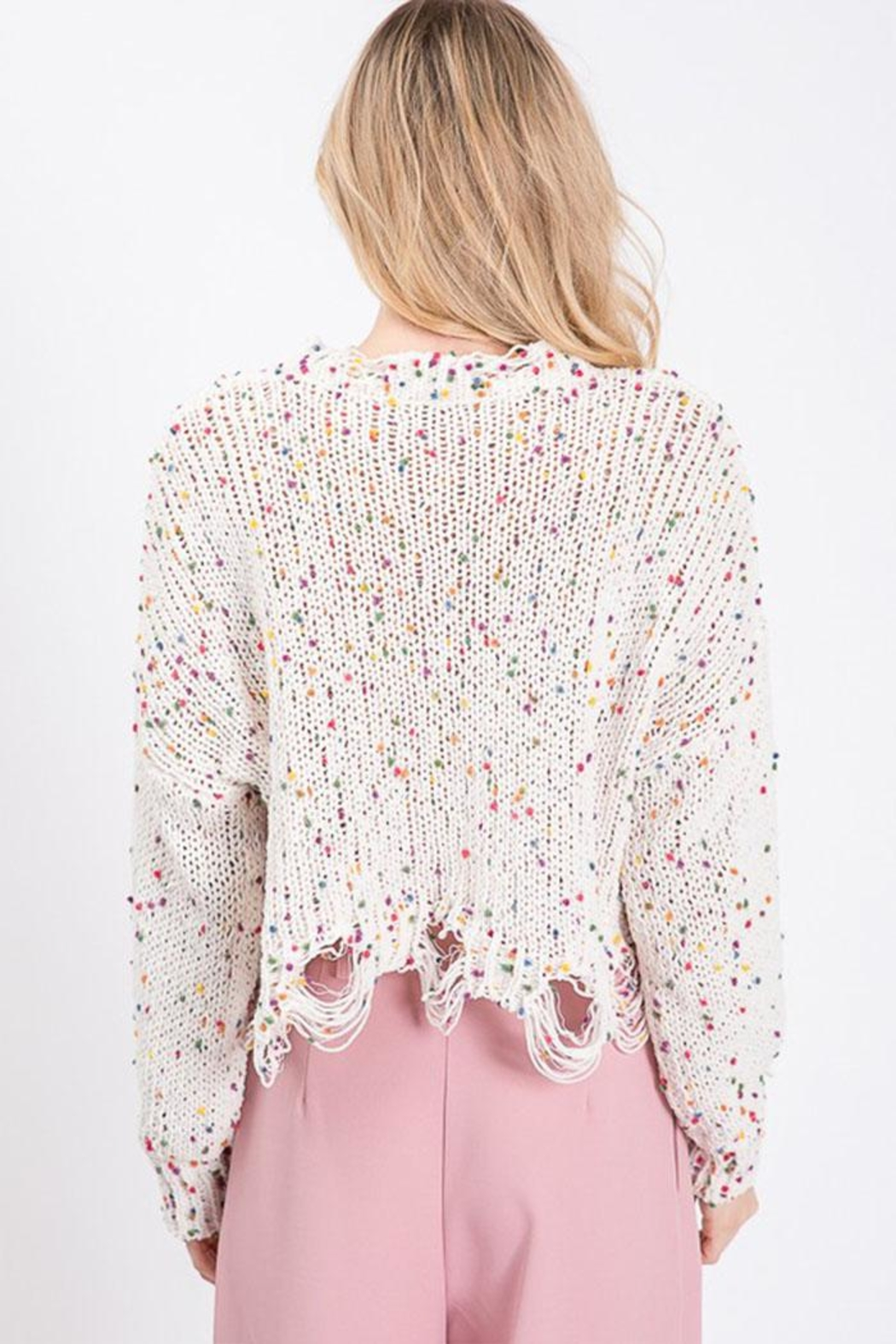 Idem Ditto  Colorful Dot Sweater - Side Cropped Image
