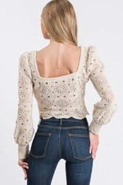Idem Ditto  Crochet Knit Top - Front full body