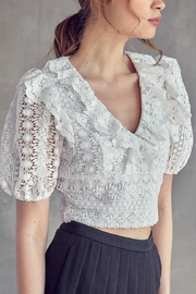 Idem Ditto  Crochet Lace Top - Front full body