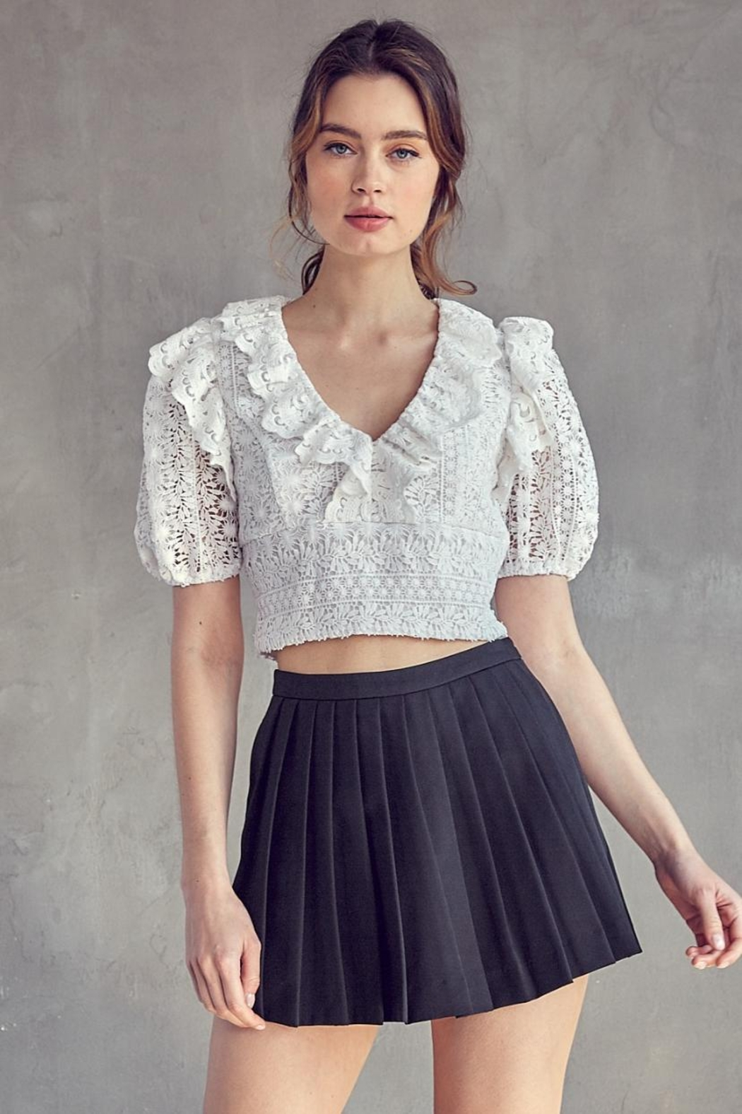 Idem Ditto  Crochet Lace Top - Main Image