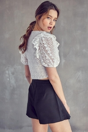 Idem Ditto  Crochet Lace Top - Back cropped