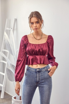 Idem Ditto  Cross-Back Satin Top - Product List Image