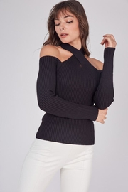 Idem Ditto  Cross Neck Sweater - Back cropped