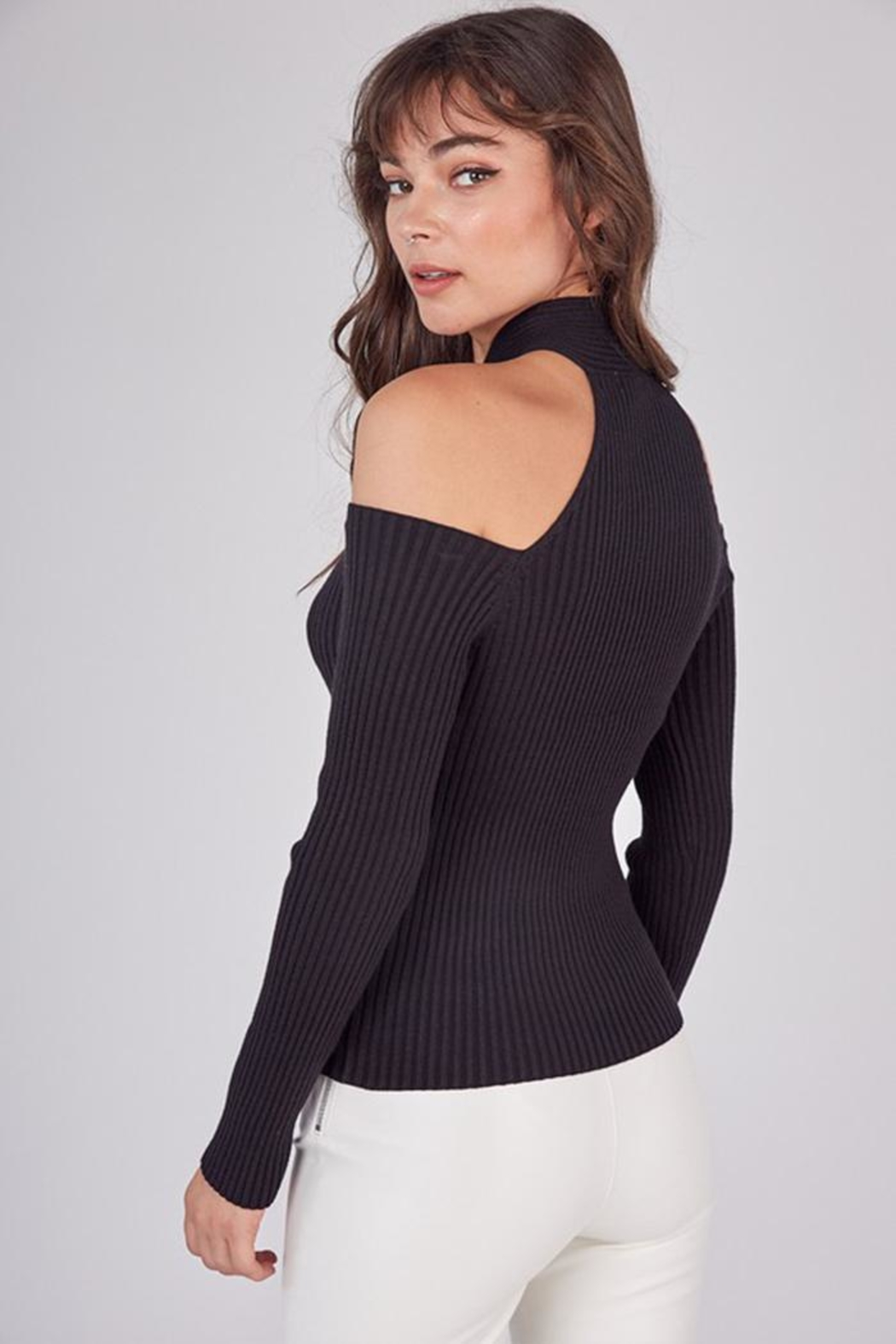 Idem Ditto  Cross Neck Sweater - Side Cropped Image