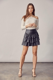 Idem Ditto  Faux-Leather Mini Skirt - Product Mini Image