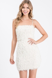 Idem Ditto  Feather Mini Dress - Product Mini Image